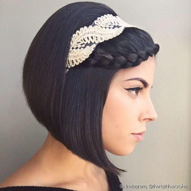 As noivinhas de cabelo curto também podem usar tranças no grande dia - @therighthairstyles