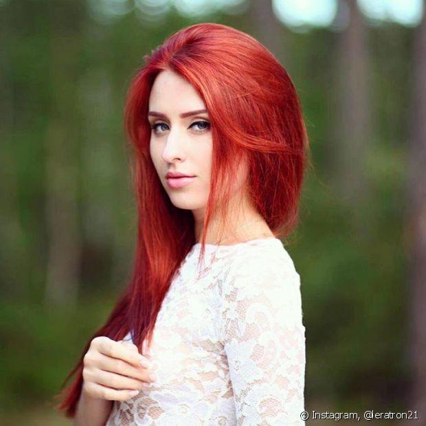 """O """"mermaid red"""" é conhecido por lembrar o cabelo de uma famosa sereia dos desenhos animados"""