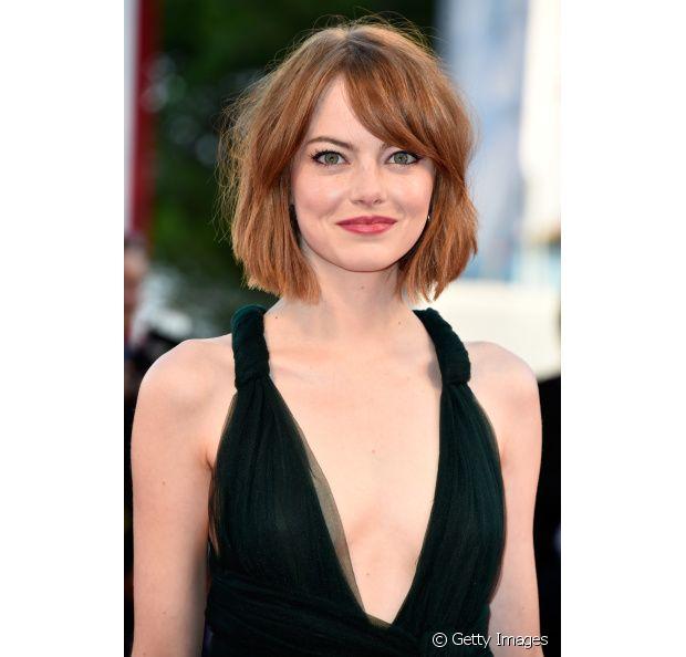 A atriz Emma Stone é famosa pelo ruivo e ela já mudou bastante a tonalidade dele