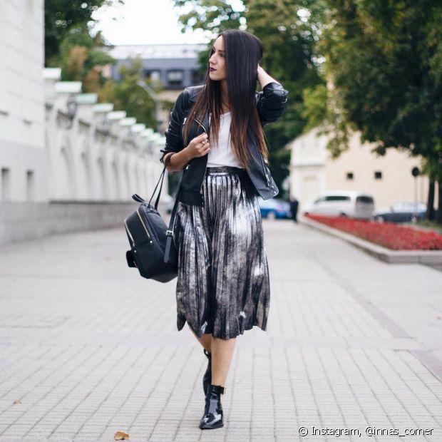 No entanto, se você está ainda está preocupada em não ficar achatada com uma saia mídi, existem, sim, algumas dicas que podem te ajudar a perder esse medo