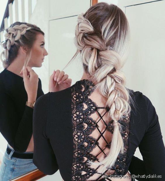 A trança embutida é o penteado que nunca sai de moda (Foto: Instagram, @whatlydialikes)