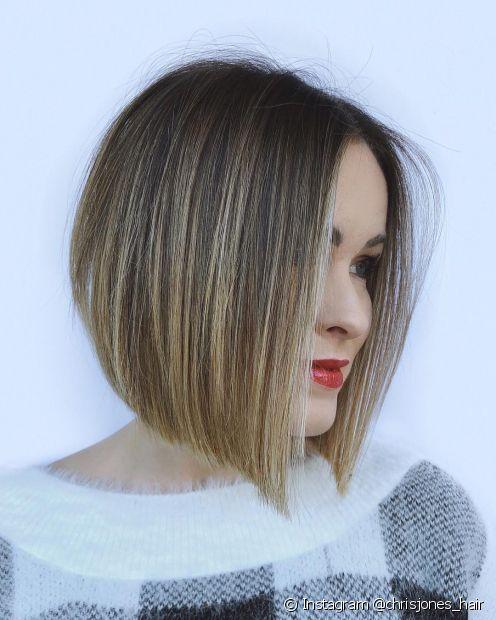 Você pode adotar o cabelo chanel de bico loiro com as pontas retas e bem alinhadas. (Foto: Instagram @chrisjones_hair)