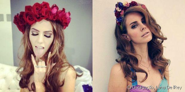 A coroa de flores usada pela cantora Lana Del Rey virou febre entre as meninas durante o ano inteiro