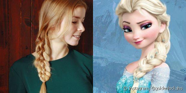 É muito simples criar uma fantasia inspirada na Elsa do filme 'Frozen'. Basta usar um vestido azul e criar uma trança lateral