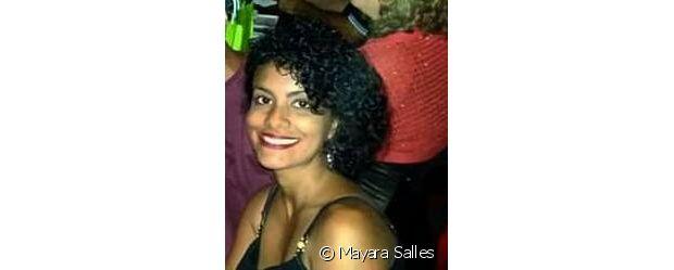Mayara Salles está com os cachos superdefinidos