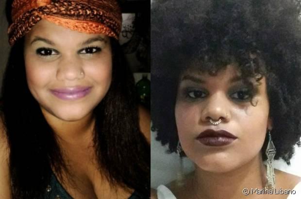 Marina Libano começou a alisar os cabelos com 11 anos depois de sofrer preconceito. A jornalista deu a volta por cima e assumiu seu black power!