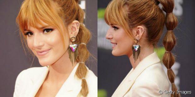 Bella Thorne também já investiu no penteado com elásticos expostos
