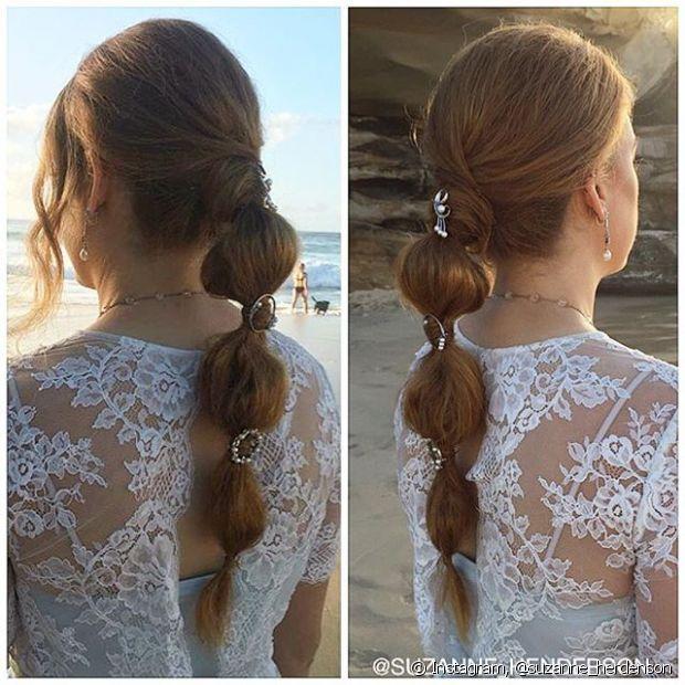 O penteado é muito fácil de fazer e pode ser usado tanto no dia a dia, como em eventos sofisticados