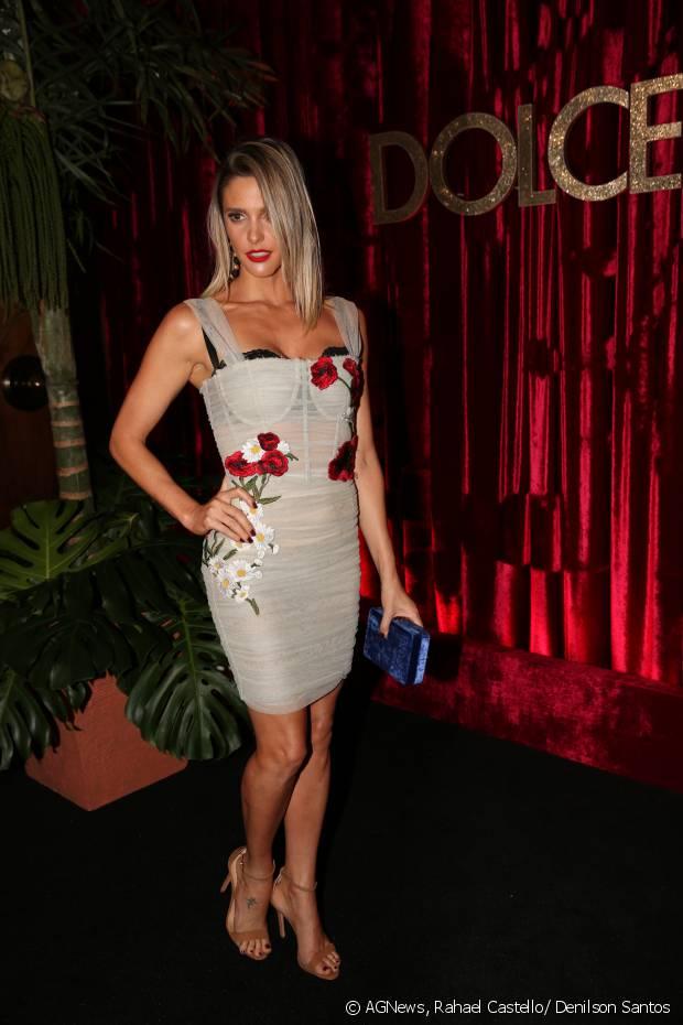 Fernanda Lima marca presença na festa DG Loves Brazil