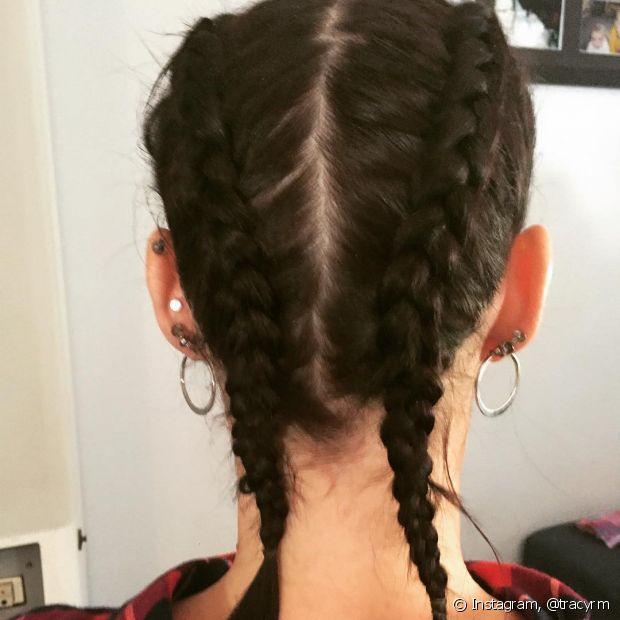 Esse tipo de trançado foi inspirado nas lutadoras que na hora do combate assim prendiam o cabelo para não atrapalhar a competição