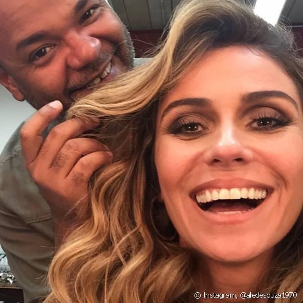 Alê de Souza é o beuaty artist responsável pela finalização do cabelo de Giovanna Antonelli