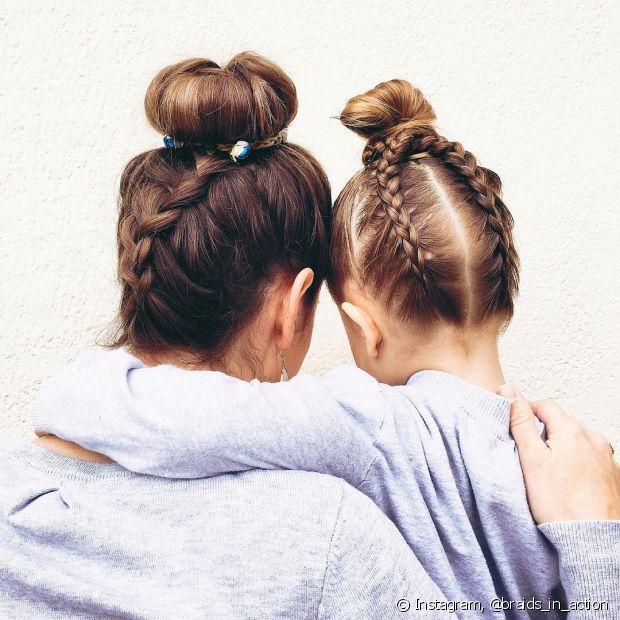 'Temos uma tradição de família, pelo menos uma vez ao mês fazemos o mesmo penteado e tiramos uma foto! Acho que ela vai gostar de ver quando crescer', explicou Íris sobre a participação da pequena Amaya no @braids_in_action