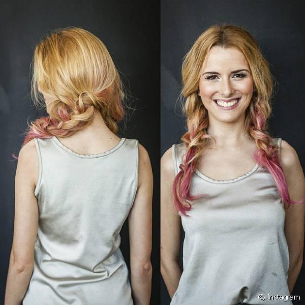 Além das tranças laterais da infância, quem nunca quis pintar as pontinhas do cabelo de rosa?