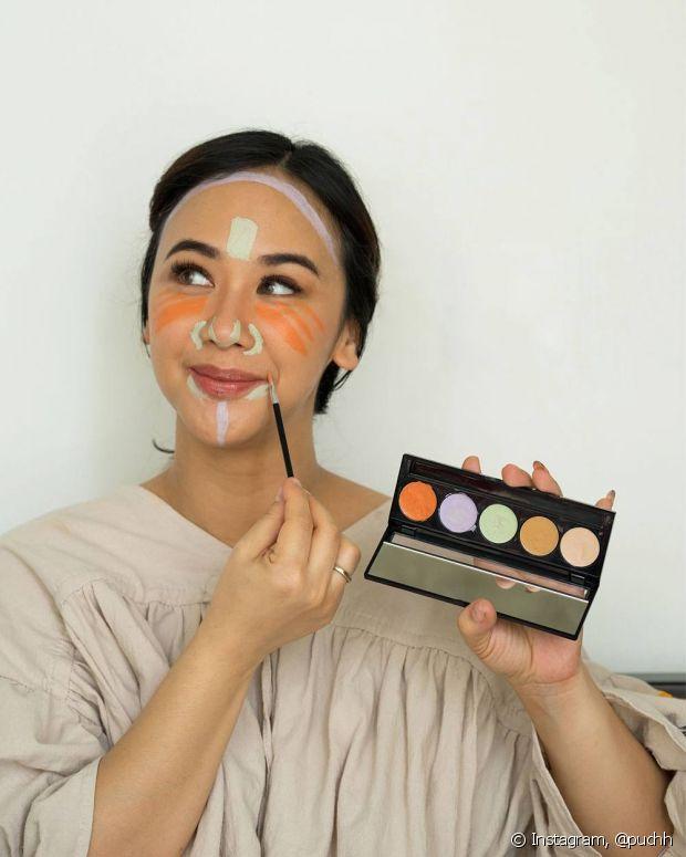Cada cor de corretivo tem a sua função na maquiagem