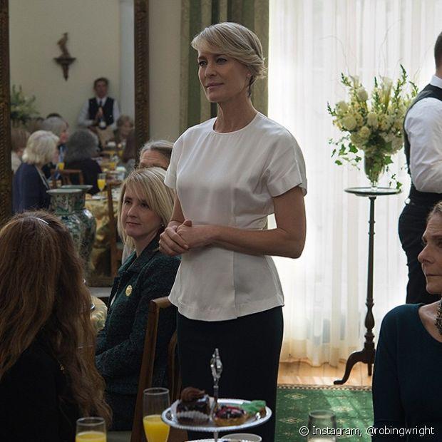 Na série 'House of Cards', Claire Underwood é tão ambiciosa quanto seu marido, que deseja ser presidente dos Estados Unidos