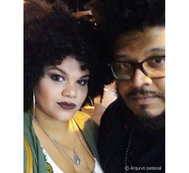 Marina Libano contou com o apoio do namorado para passar pela transição capilar