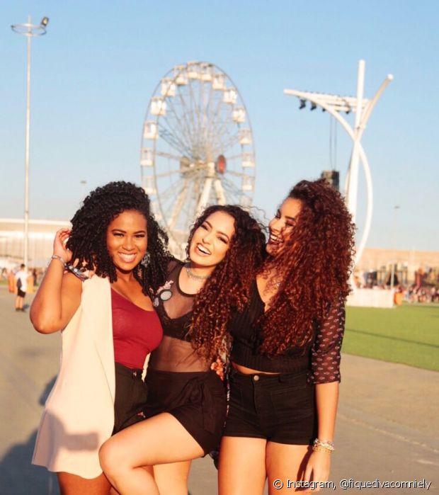 Silvia Carter, Mathira Menezes e Camilla Santana curtiram muito os shows do Rock in Rio
