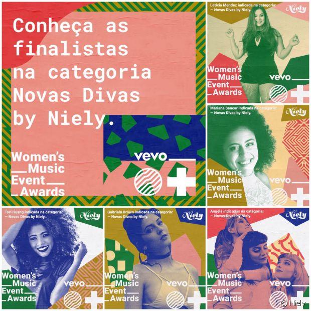Conheça as cinco finalistas do concurso #NovasDivasByNiely