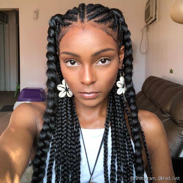 Muitas meninas que usam box braids preferem deixar a ponta mais fina, mas não sabem como fazer