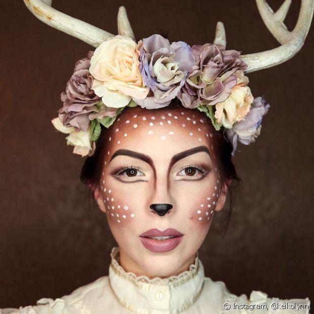 Uma maquiagem artística pode ser o ponto de foco da sua fantasia