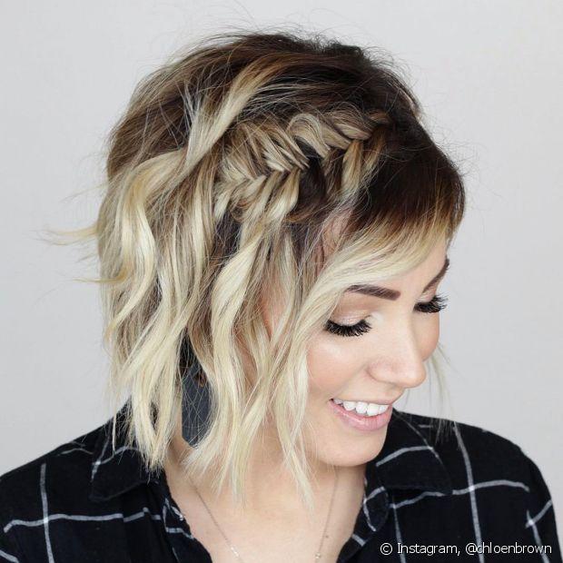 Os cabelos curtinhos podem, sim, apostar nas tranças! O estilo fica um charme nas madeixas mais curtas e é bem mais simples de reproduzir do que muita gente imagina