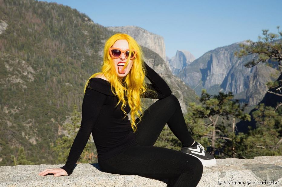 O inverno não é um vilão para os fios! Com os tratamentos certos é possível manter os cabelos coloridos bem saudáveis durante toda estação (Foto: Instagram @morguehigdon)