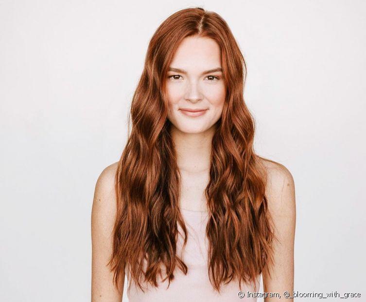 Mudar a cor do cabelo para o ruivo alaranjado é uma escolha certeira (Foto: instagram, @_blooming_with_grace)