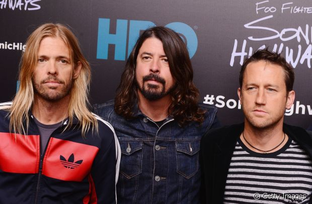 Taylor Hawkins e Dave Grohl, os cabeludos do Foo Fighters