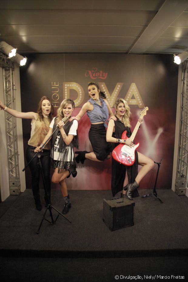 Janaína Carvalho, Renata Uchôa, Mariana Saad e Carolina Tognon se divertiram no palco do Fique Diva