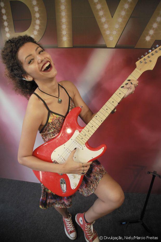 A estudante de jornalista Cecília Boechat fez sua performance em cima do palco do stand Fique Diva, no Rock in Rio 2015