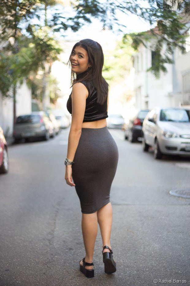 'Meu estilo misture looks urbanos com um pouco de glamour', contou a jovem