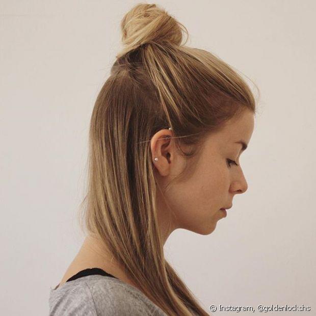 O half bun é o penteado ideal para usar no dia a dia