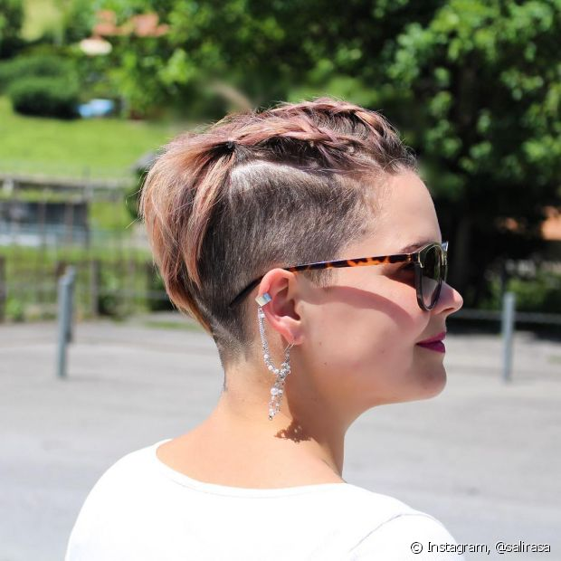 Inspire-se nas tranças que @salirasa faz em seu cabelo curto