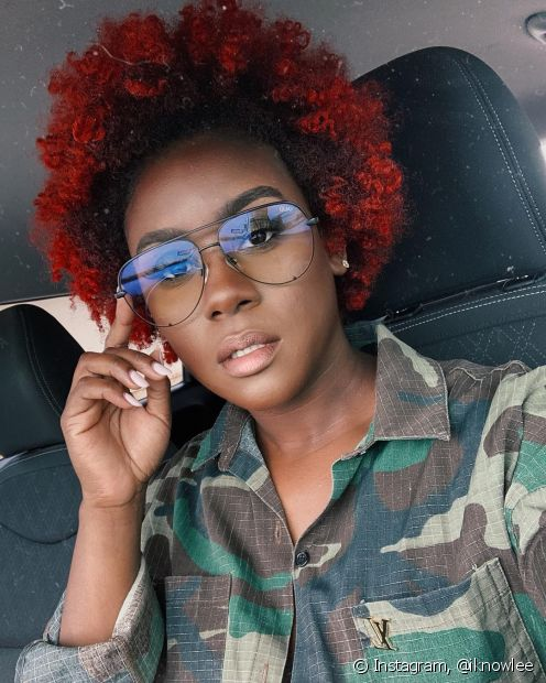 As californianas vermelhas em cabelo curto podem ser feita como realce das pontinhas (Foto: Instagram @iknowlee)