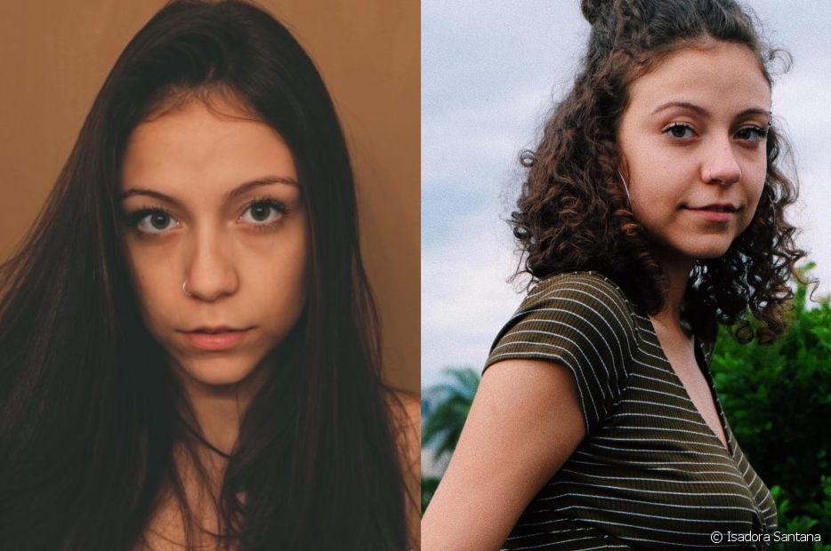 Isadora Santana alisou o cabelo por cinco anos e decidiu entrar em transição capilar aos 18: 'Vejo tantas meninas nas ruas com os fios lindos, crespos e cacheados, que resolvi tentar'