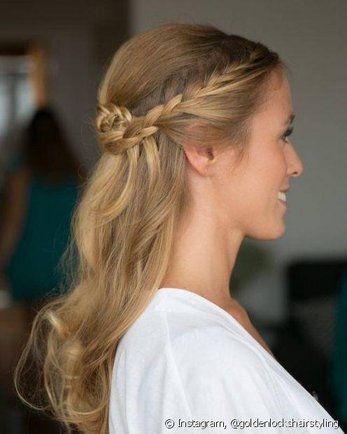As tranças são perfeitas para incrementar os penteados semipresos