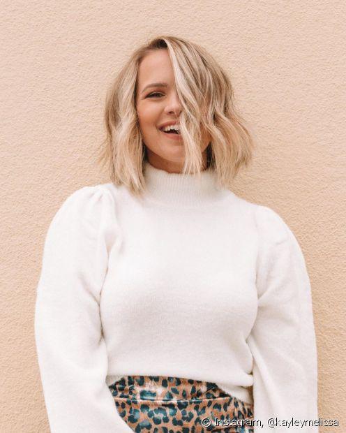Os cortes para cabelos curtos foram uma das tendências mais buscadas em 2019 por quem queria mudar o visualm (Foto: Instagram, @kayleymelissa)