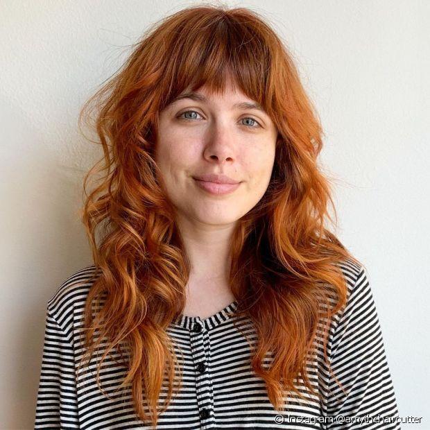 Os cabelos ruivos claros são super versáteis e podem ter um fundo mais amarronzado. (Foto: Instagram @amythehaircutter)