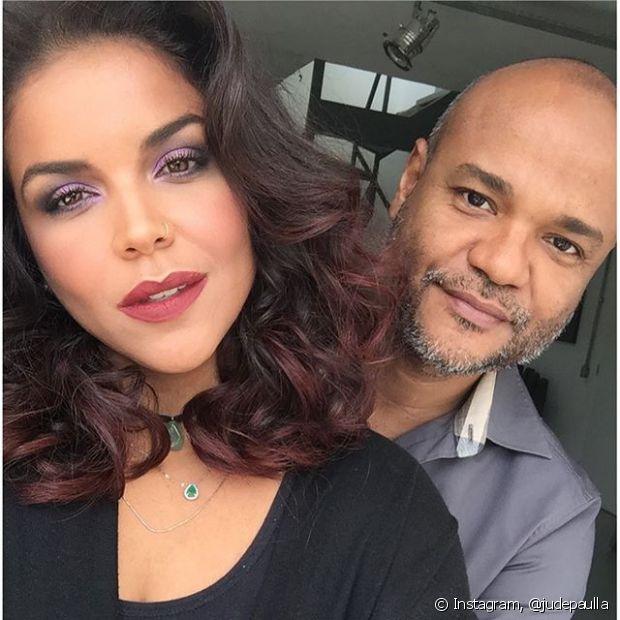 Ju de Paulla fez a maquiagem do clipe de Brilho&Ton com o nosso Expert de Beleza Niely, Alê de Souza