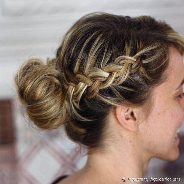 Tranças laterais sempre podem incrementar penteados clássicos e trazer um pouco de bossa