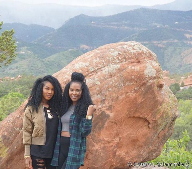 As irmãs @glamtwinken2 arrasam no Youtube e no Instagram compartilhando looks, texturizações e muito carão