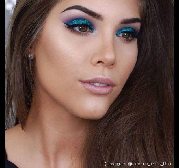 A misturinha do azul com lilás é uma de nossas combinações preferidas!
