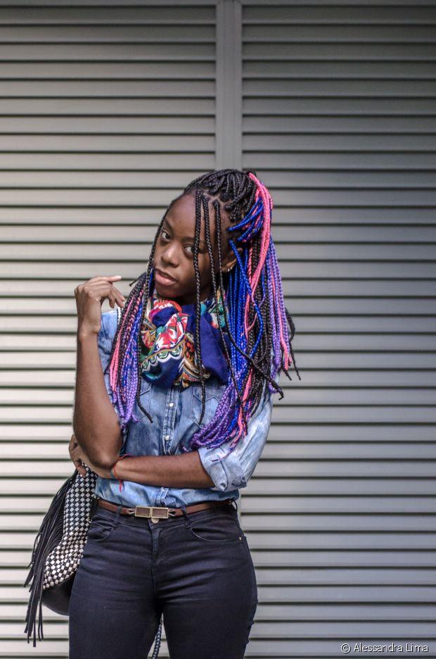 Carmen Lúcia fez as box braids por causa de sua transição capilar