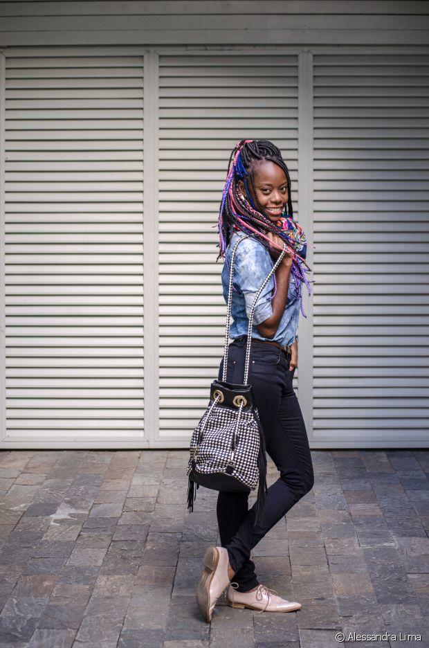 Carmen Lúcia adora a combinação jeans + jeans