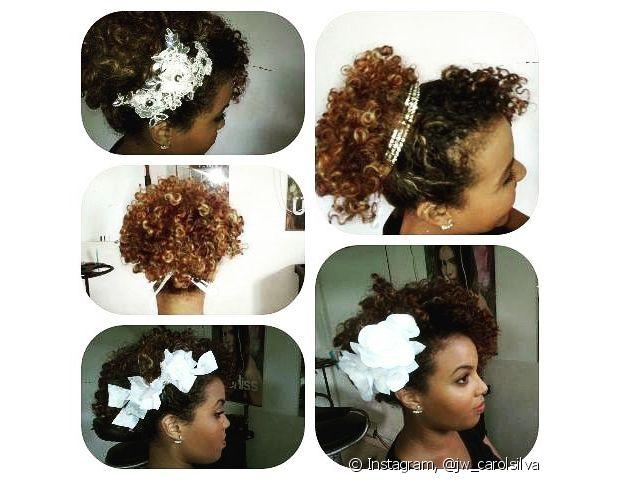 Se jogue em flores, tiaras e todo tipo de acessório bonito que possa incrementar seu penteado