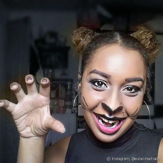 A leitora Larissa Machado se inspirou na maquiagem da Diva do Black e arrasou no look de gatinha! #divasemregras
