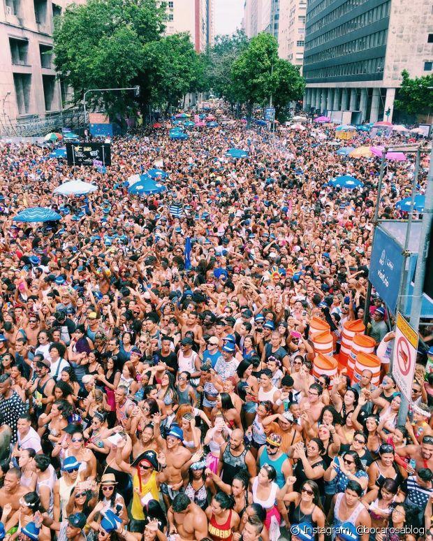 Bianca Andrase, a Boca Rosa, compartilhou uma foto da multidão no Bloco das Poderosas