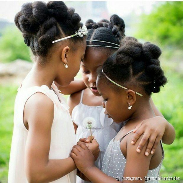 Penteados Para Daminhas Crespas Estilos Para As Meninas