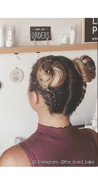 A trança invertida pode ser feita para o dia a dia ou um evento mais formal. Tudo vai depender da finalização do penteado (Foto: Instagram, @the_braid_babe)