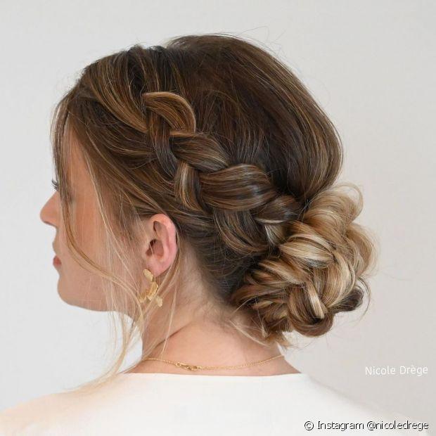 Penteados trançados são os mais pedidos para cerimônias de casamento (Foto: Instagram @nicoledrege)